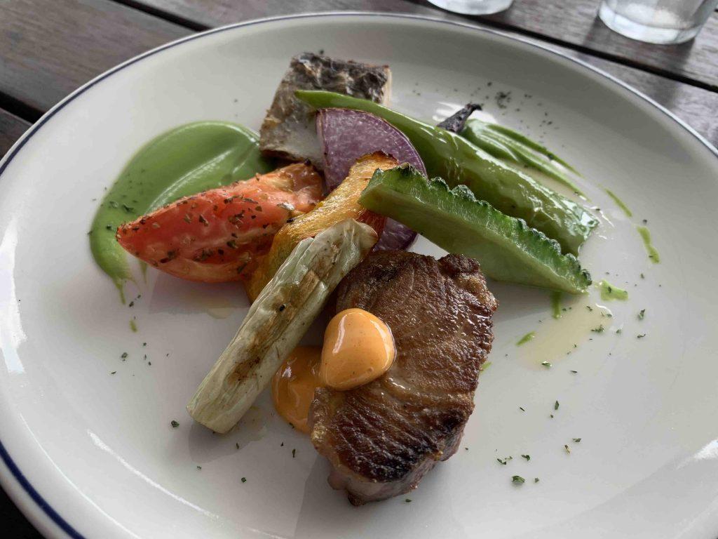 MARINE&FARM漁港直送鮮魚と三崎マグロのソテー2種盛り合わせ
